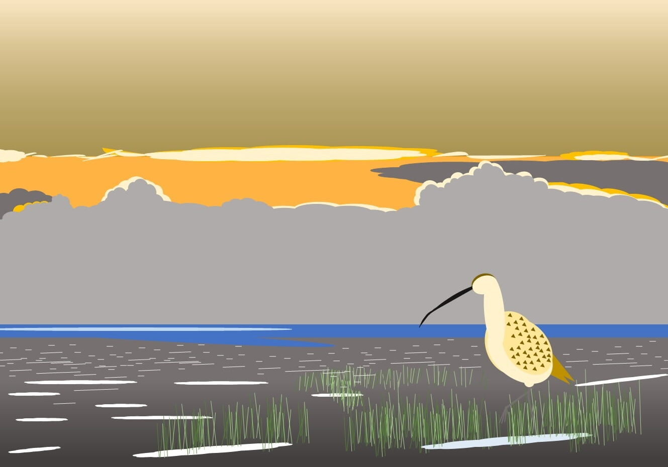 Curlew at Sunrise (James Currell)
